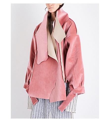 DANIEL GREGORY NATALE Oversized cotton-velvet jacket (Coral+pink