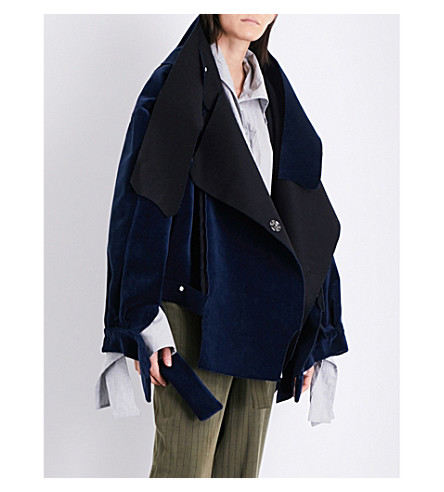 DANIEL GREGORY NATALE Oversized cotton-velvet jacket (Navy