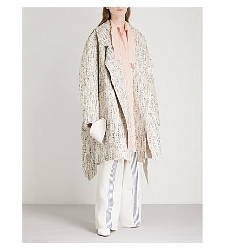 DANIEL GREGORY NATALE Woven-pattern linen coat (Cream