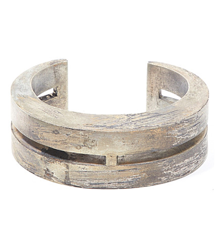 PARTS OF FOUR Ultra reduction acid-washed silver slit bracelet (Super+ultra+acid+gold