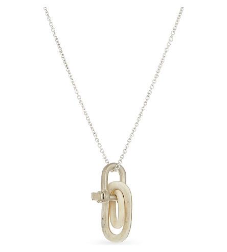 PARTS OF FOUR Deco link charm necklace (Multicolour