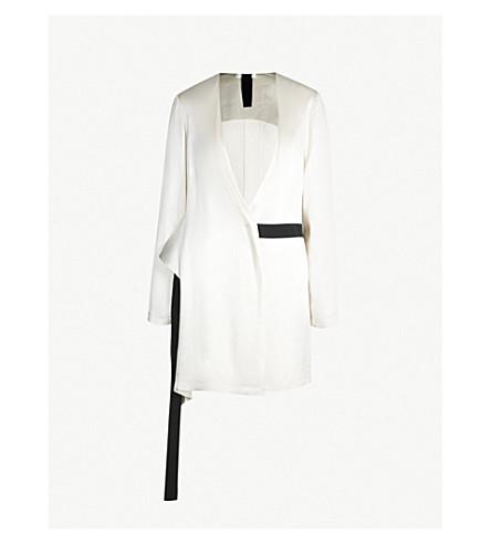 LITKOVSKAYA La Adelita satin wrap jacket (White