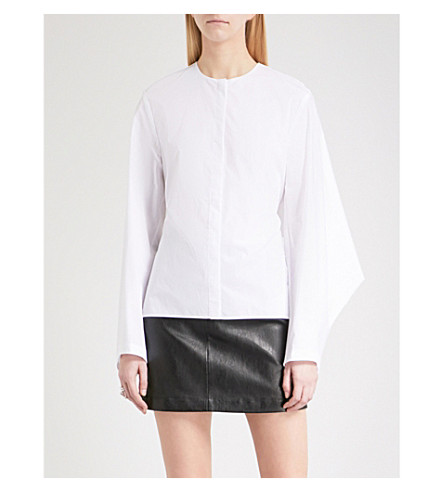 DION LEE Loop self-tie cotton shirt (White