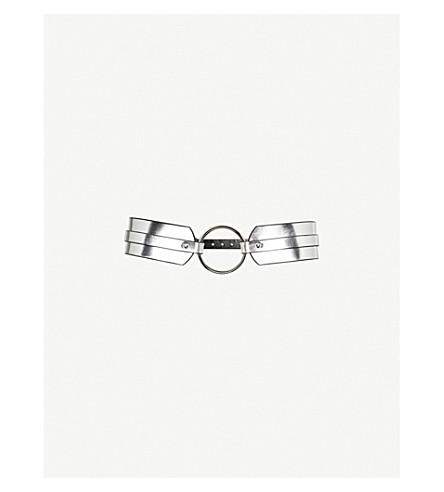 FLEET ILYA O-ring studded leather belt (Silver