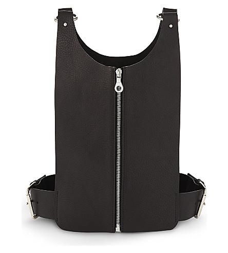 FLEET ILYA Cropped leather harness (Black/silver