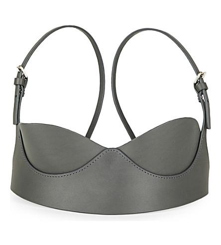 FLEET ILYA Balcony leather bra (Grey/silver