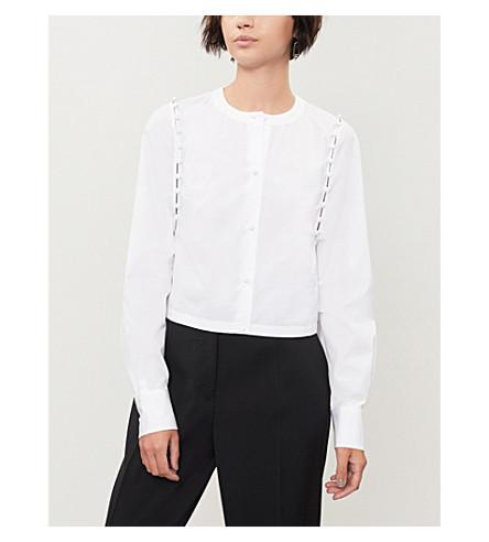 THOM BROWNE Button-detail cotton-poplin shirt (White