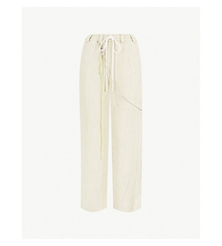 SONG FOR THE MUTE Straight-leg pleated trousers (Stone