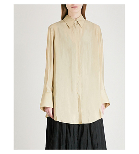SONG FOR THE MUTE Oversized woven shirt (Daikon