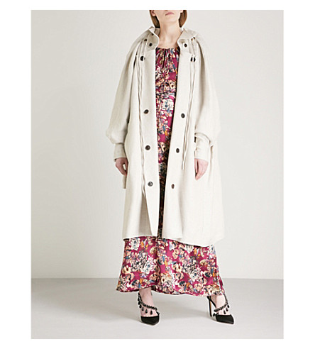 Y/PROJECT Double layered linen coat (Oatmeal