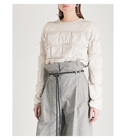 Y/PROJECT Checked pocket-detail wool sweatshirt (Beige