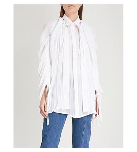 Y/PROJECT Oversized chiffon shirt (White
