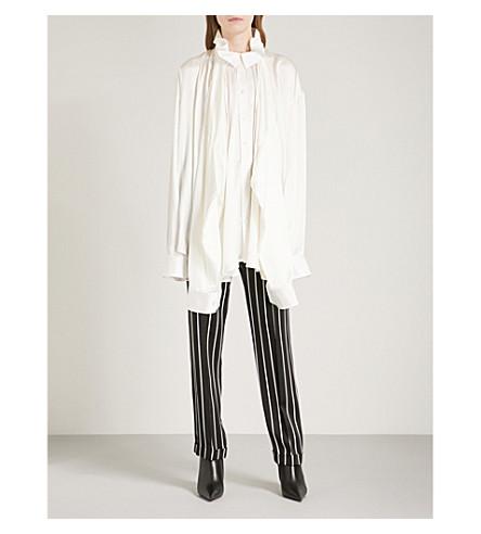 Y/PROJECT Double sleeve silk-satin shirt (Cream