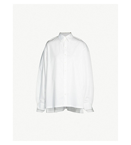 Y/PROJECT Loose-fit cotton shirt (White
