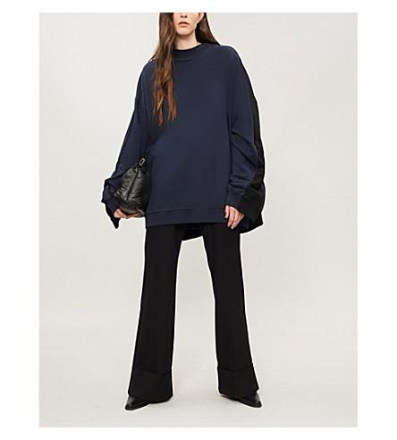 Y/PROJECT Two-tone cotton-jersey sweatshirt (Black/navy