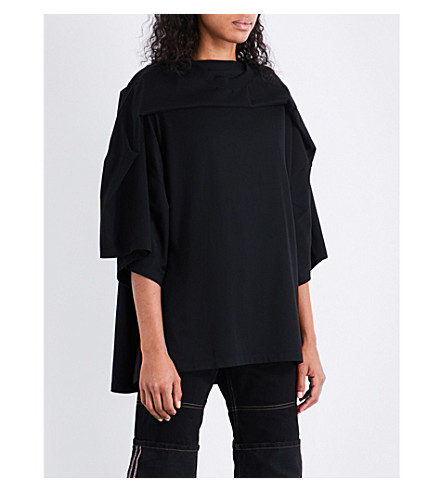 Y/PROJECT Oversized cotton-jersey T-shirt (Black