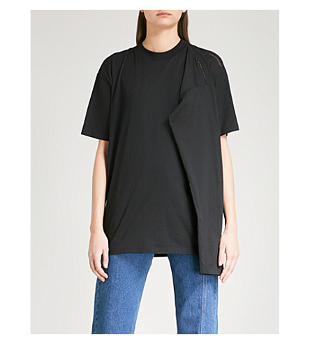 Y/PROJECT Double-sleeve cotton-jersey top (Black