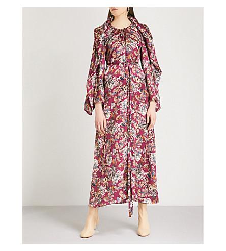 Y/PROJECT Floral-print silk midi dress (Purple