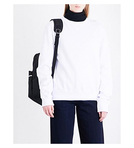 CALVIN KLEIN 205W39NYC Patch appliqué cotton-jersey sweatshirt (White