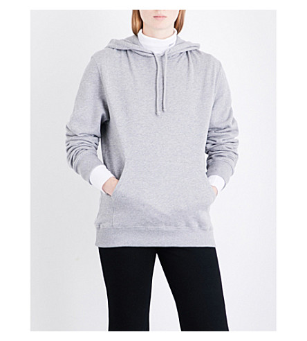 CALVIN KLEIN 205W39NYC Patch appliqué cotton-jersey hoody (Grey