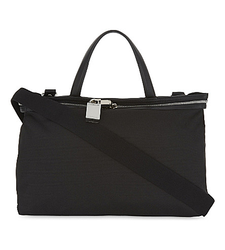 CALVIN KLEIN 205W39NYC Canvas and leather small tote (Black