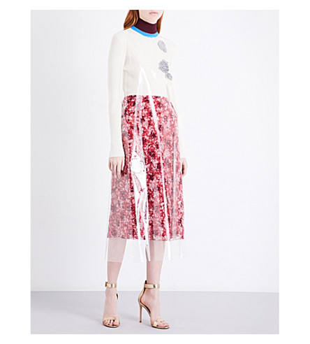 CALVIN KLEIN 205W39NYC Transparent A-line PVC dress (Transparent