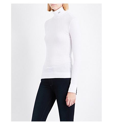 CALVIN KLEIN 205W39NYC Turtleneck cotton-jersey top (Optic+white