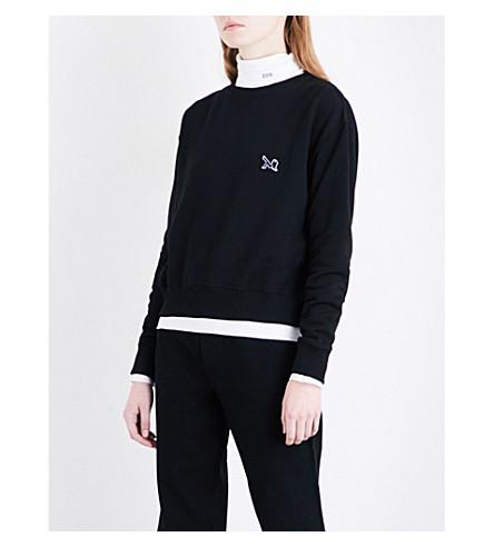 CALVIN KLEIN 205W39NYC Patch appliqué cotton-jersey sweatshirt (Black