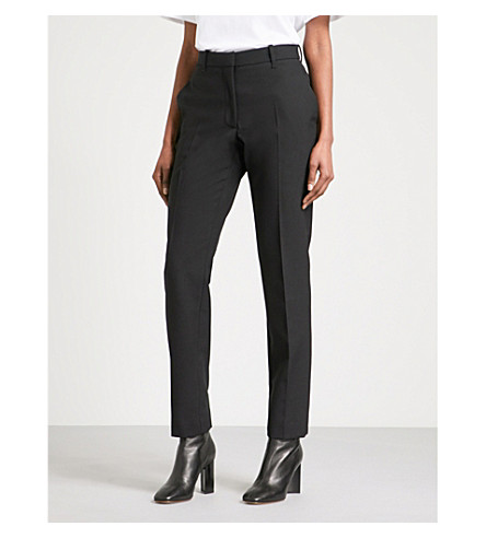 CALVIN KLEIN 205W39NYC Slim-fit tapered wool trousers (Black