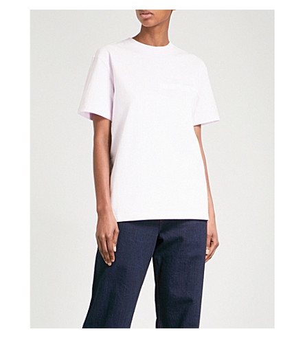 CALVIN KLEIN 205W39NYC Logo-embroidered cotton-jersey T-shirt (Blush