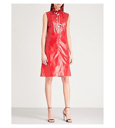 CALVIN KLEIN 205W39NYC Drawstring funnel neck dress (Bright+scarlet