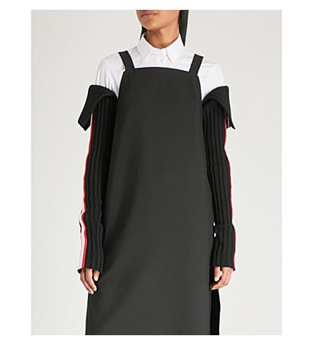 CALVIN KLEIN 205W39NYC 条纹羊毛混纺袖子 (黑色/红色/白色