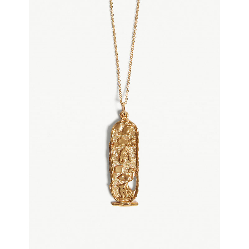 ALIGHIERI Canto V hieroglyph gold-plated necklace