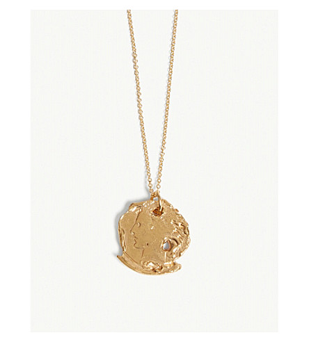 ALIGHIERI Distressed coin necklace (Gold