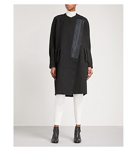 OMER ASIM Man oversized wool coat (Black