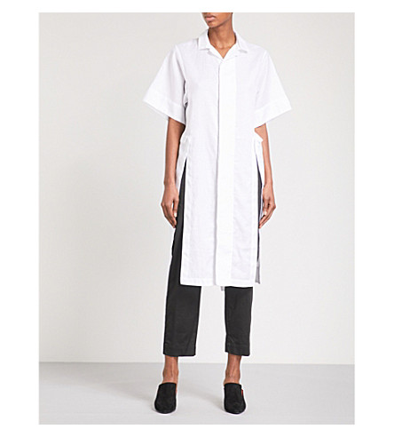 OMER ASIM Ansaar cotton-twill shirt dress (White