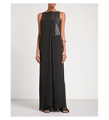 OMER ASIM Haraza silk and linen dress (Black