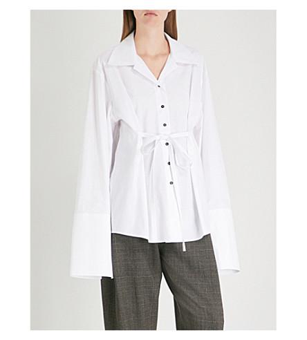 DANIEL POLLITT 自系式棉府绸衬衫 (白色