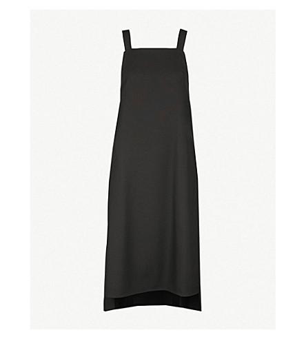DANIEL POLLITT Self-tie wool midi dress (Black