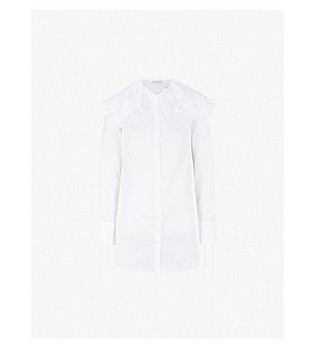 CECILIE BAHNSEN Camille cotton-poplin shirt (White