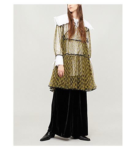 CECILIE BAHNSEN Christiane spotted tulle dress (Yellow/black