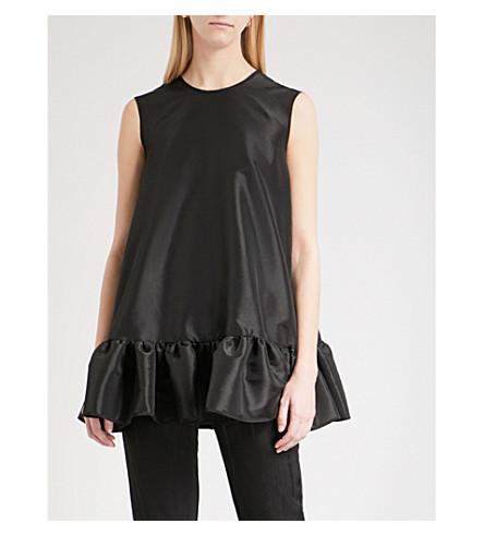CECILIE BAHNSEN LaLa sleeveless satin top (Black