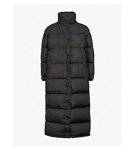 PRADA Quilted shell-down overcoat (Nero