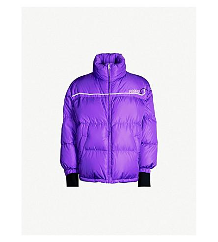 PRADA Logo-patch nylon-down puffer jacket (Ametista