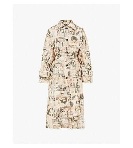 PRADA Comic-print nylon trench coat (Opaline