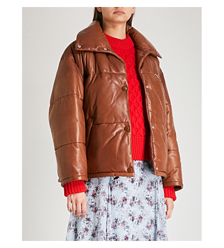 PRADA Logo-patch quilted shell puffer jacket (Pallisandro