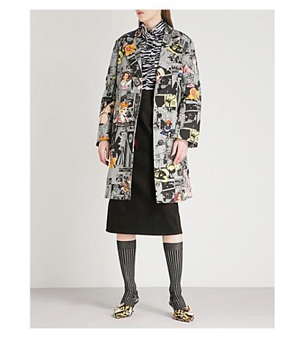 PRADA Comic-print stretch-cotton coat (Ferro