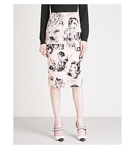 PRADA Comic-print pencil skirt (Opaline