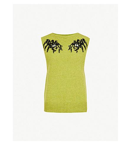 PRADA Spider-motif sleeveless wool jumper (Acido