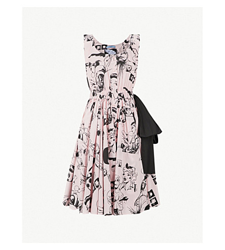PRADA Comic Collage cotton dress (Opaline